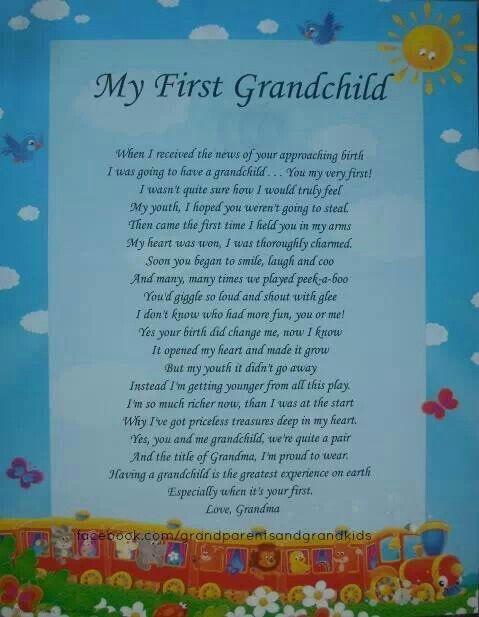 My First Grandchild 1st Birthday Quotes Gifts About Grandchildren Grandkids