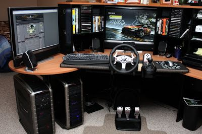 pc gamer set with racing simulation kit pinteres