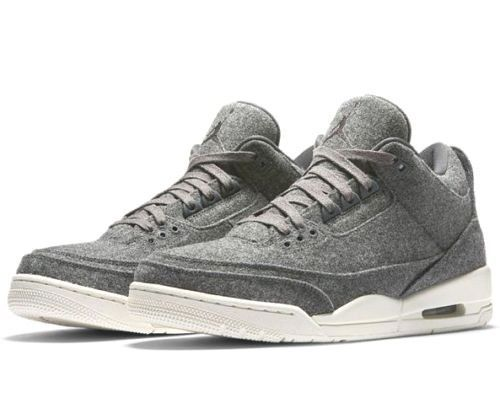 competitive price 18d67 687c5 Nike Air Jordan 3 Retro Wool BG Youth Basketball Shoes Dark Grey Sail  Nike   Athletic