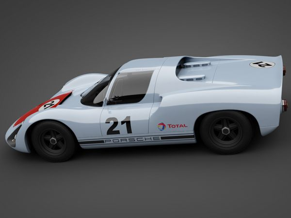 1966 Porsche 910 Race Car 3d Model G Stylish Car
