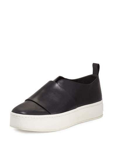 VINCE Wallace Leather Platform Skate Sneaker. #vince #shoes #