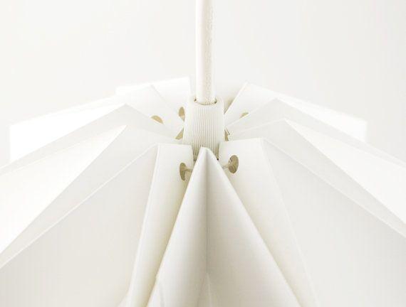 RUFFLE: Origami Polypropylene Lamp Shade White / By FiberStore