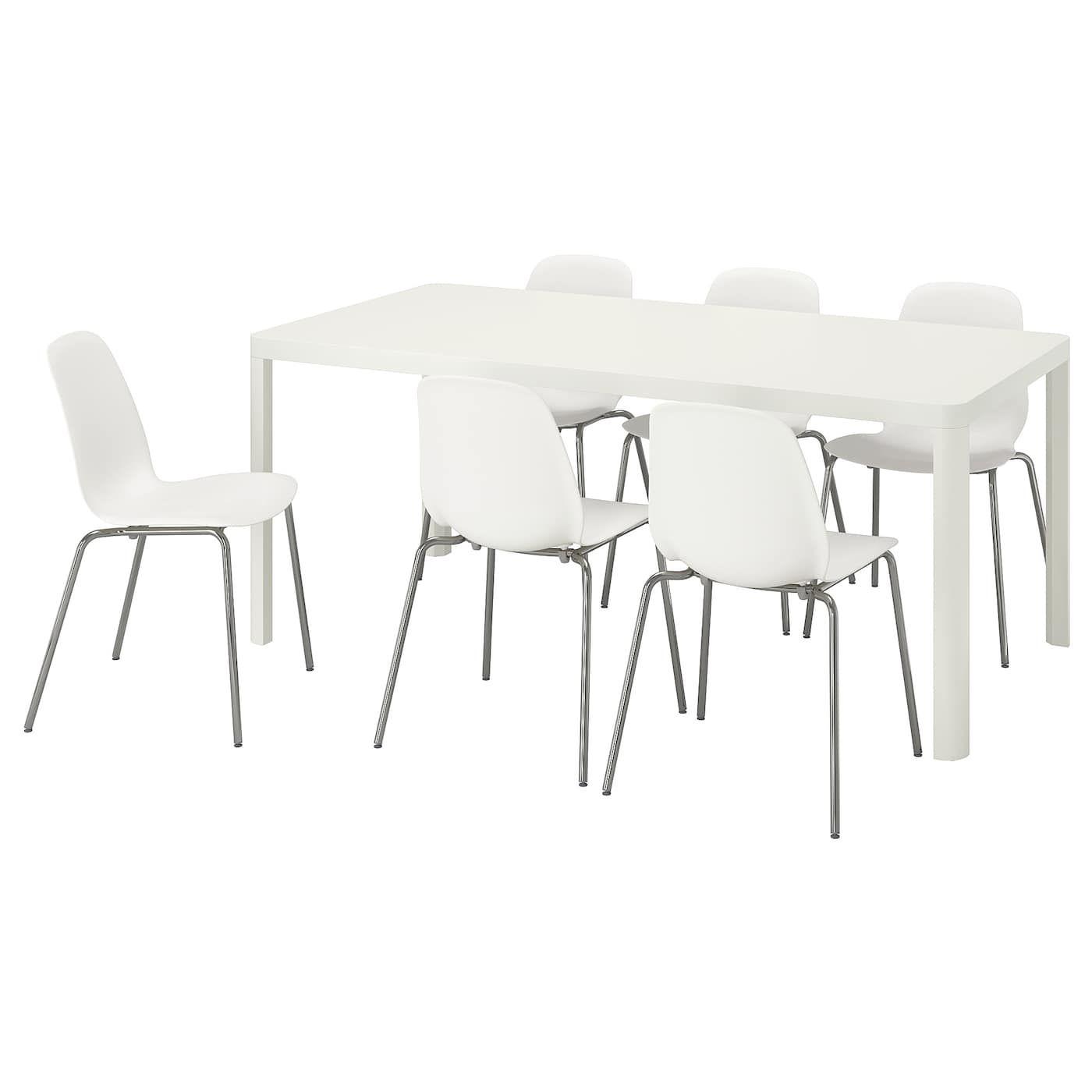 Tingby Leifarne Tisch Und 6 Stuhle Weiss Weiss Weisse Stuhle