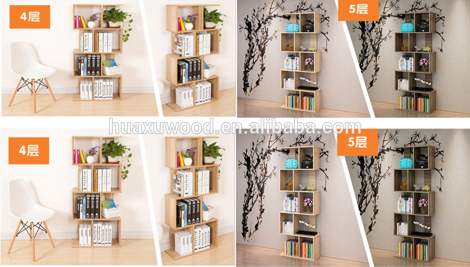kinds of different height bookshelf