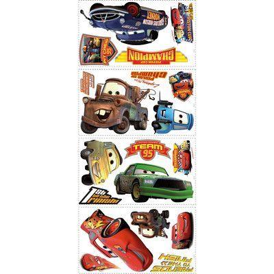"Wallhogs Disney ""Cars"" Piston Cup Champs Cutout Wall Decal"