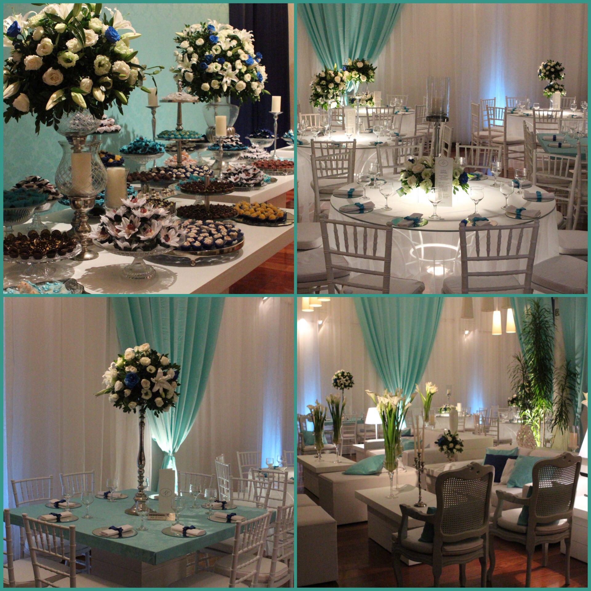 Casamento azul Tiffany  Decoraç u00e3o de Festas by me Ornamentaç u00e3o casamento, Casamento azul