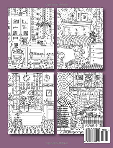 Interior Designs An Adult Coloring Book With Beautifully