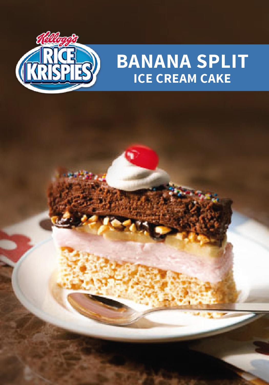 Banana Split Ice Cream Cake | Recipe | Ice cream cake ...