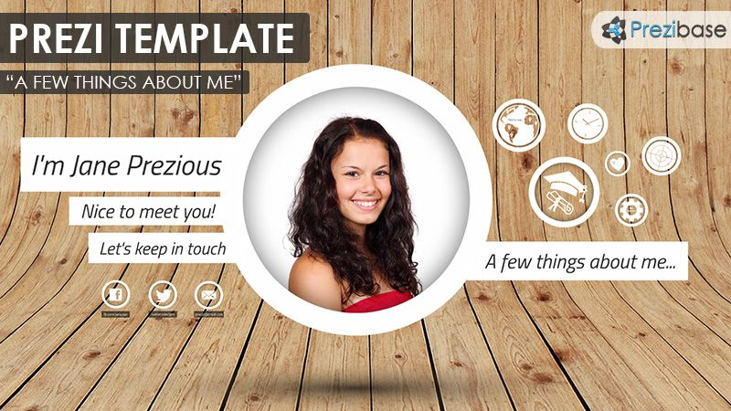 prezi template for a prezume  cv  prezi resume  presentation  white circles and rectangles