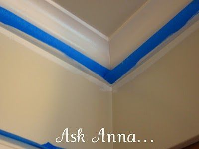 How To Paint A Straight Line A Perfect Line Ask Anna Painting Trim Paint Line Home Diy