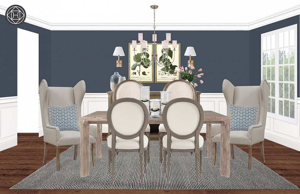 Classic Glam Farmhouse Dining Room Design By Havenly Interior Designer Michelle