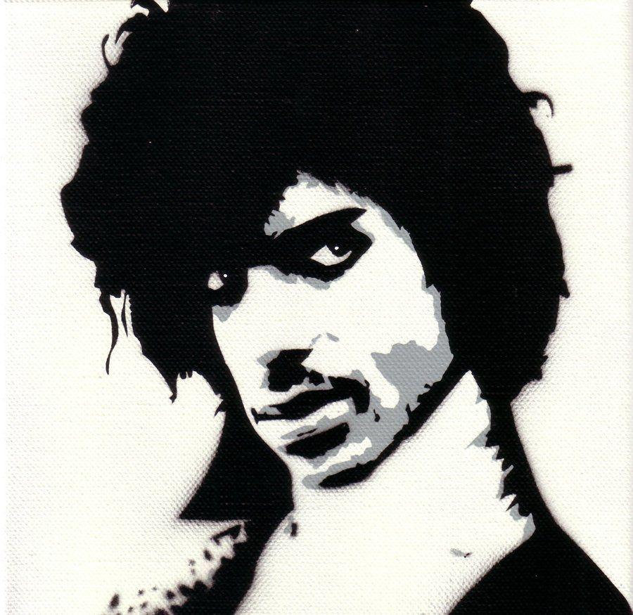Prince - stencil on canvas, 20x20cm Online-Shop:
