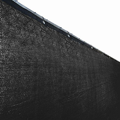 Aleko 6 X 150 Feet Blue Fence Privacy Screen Outdoor Backyard Fencing  Privacy Windscreen Shade Cover Mesh Fabric With Grommets