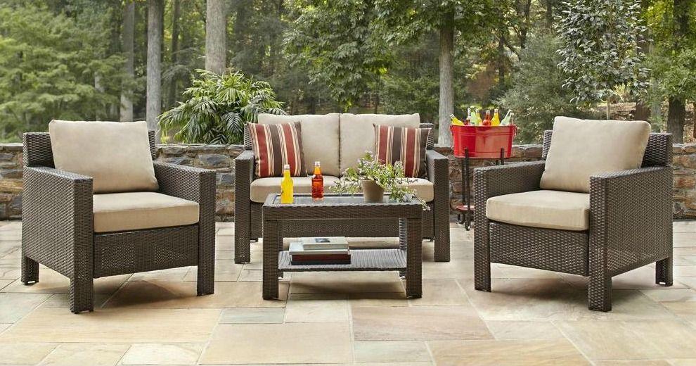 Who Makes Hampton Bay Patio Furniture.Hampton Bay Beverly 4 Piece Patio Deep Seating Set 639 20 20 Off