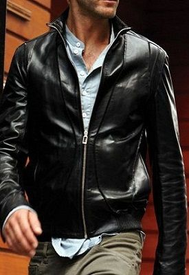 Ahint Leather Mens Leather Jacket Biker Men Leather /& Faux Leather Jacket Sheep Leather