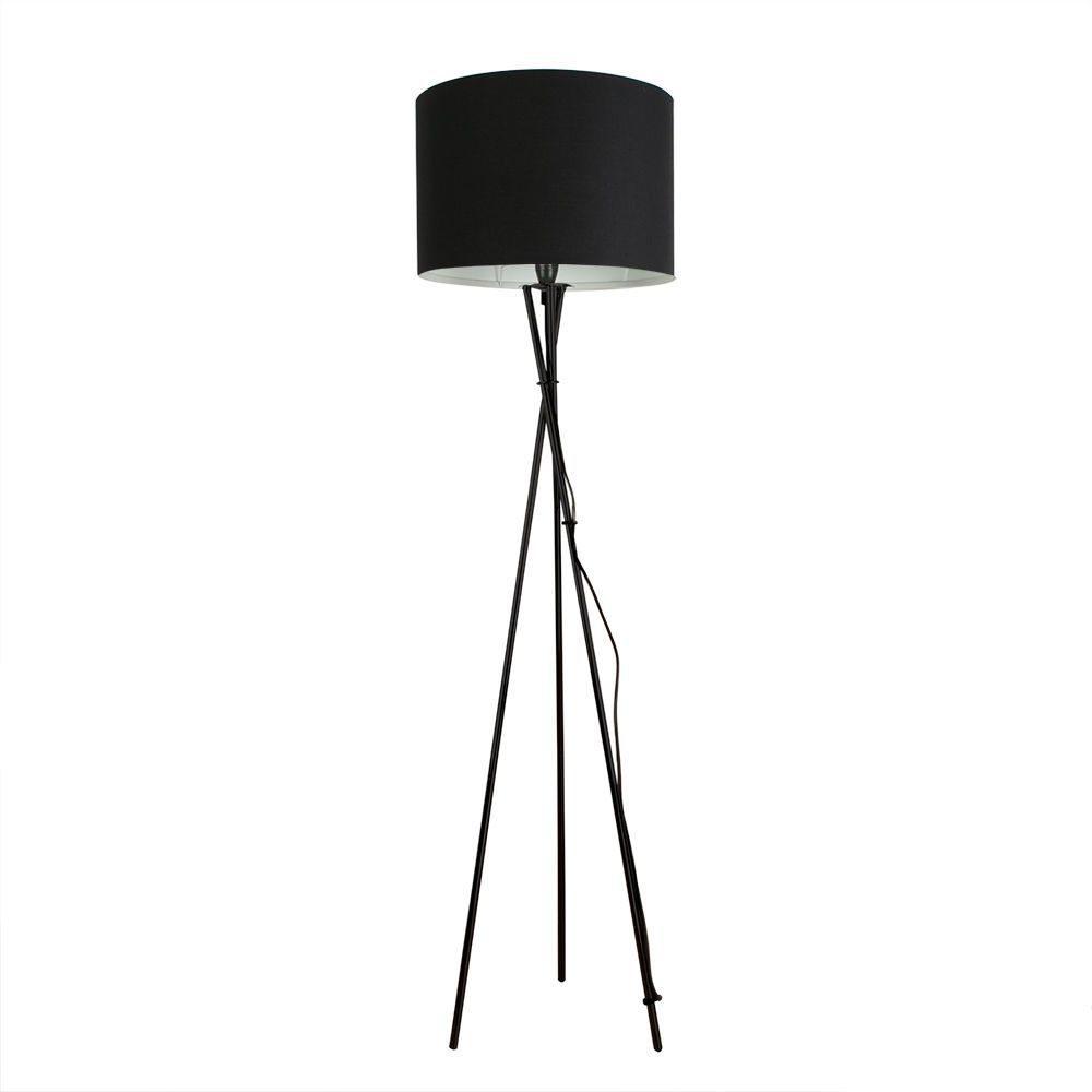 Large modern tripod floor standard lamp lounge light fabric drum large modern tripod floor standard lamp lounge light fabric drum lamp shades aloadofball Image collections