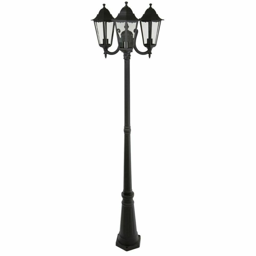Smartwares Lampadaire Lampe De Jardin 3 Tetes 180 W Noir 220 Cm