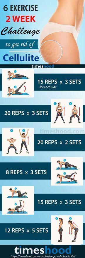 6 Übung 2wöchige Herausforderung um Cellulite loszuwerden