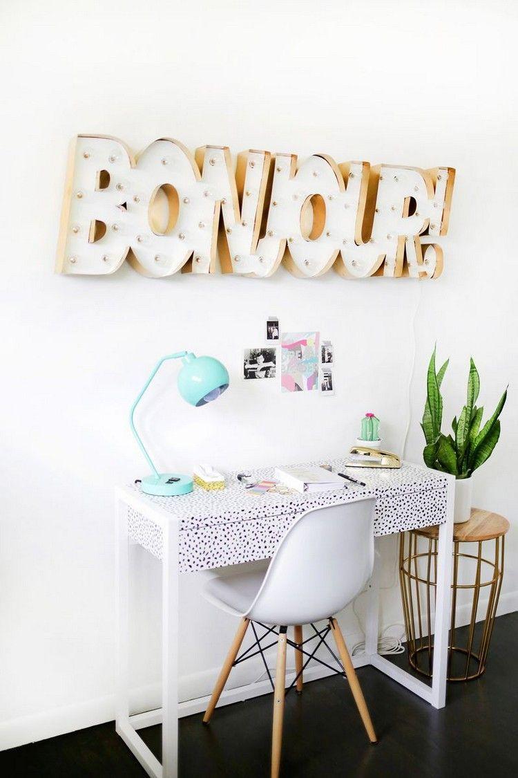 d co chambre ado fille faire soi m me 25 id es cool. Black Bedroom Furniture Sets. Home Design Ideas