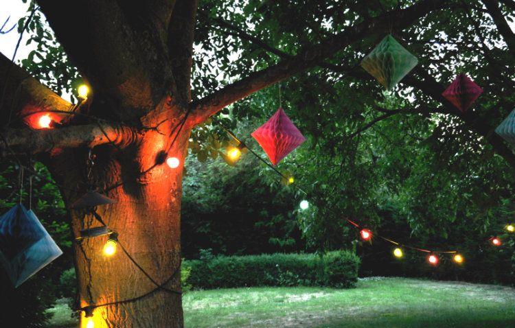 Fonkelnieuw Afbeeldingsresultaat voor slinger lampjes tuin (met afbeeldingen VV-84