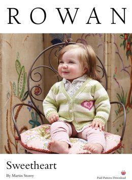 Sweetheart Cardigan in Rowan Wool Cotton 4 Ply