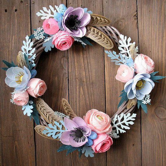 5 Bohemian Home Decor Ideas Rustic Folk Weddings: Bohemian Romantic Wreath-Boho Home Decor, Door Wreath