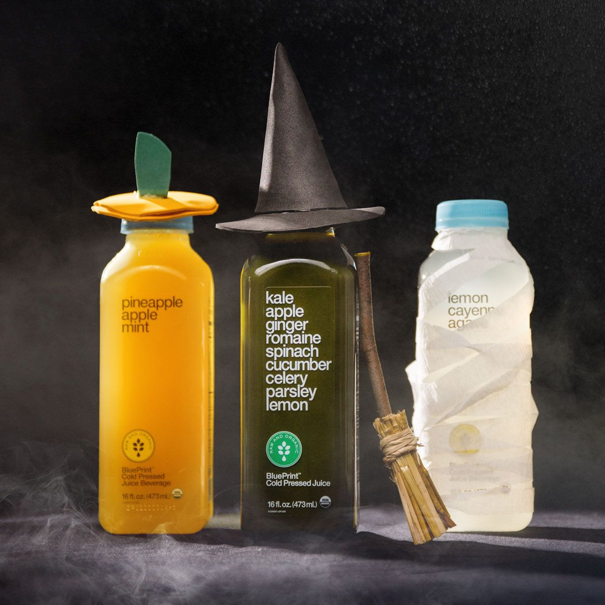 Its only treats for you this halloween make an adorable delicious make an adorable delicious nutritious treat for the ones you love this halloween by dressing up a blueprint cold pressed juice kombucha or energy drink malvernweather Image collections