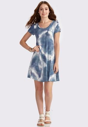24af043c7717 Cato Fashions Tie Dye Cutout Back Swing Dress #CatoFashions | Earth ...