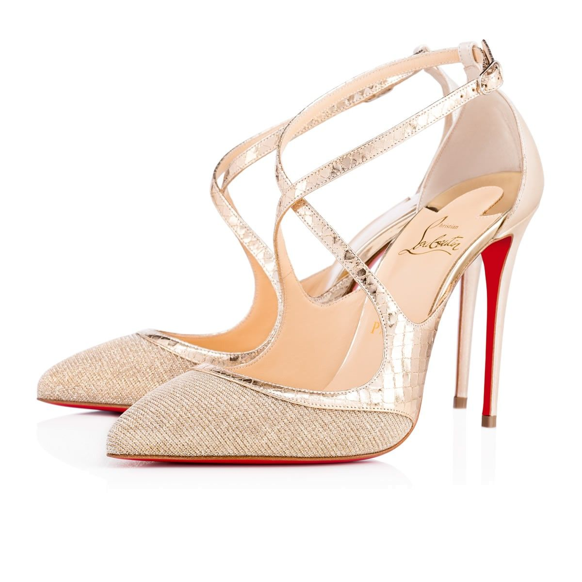 51d58c7282ac Crissos glitter 100 VERSION SILVER Glitter - Women Shoes - Christian  Louboutin