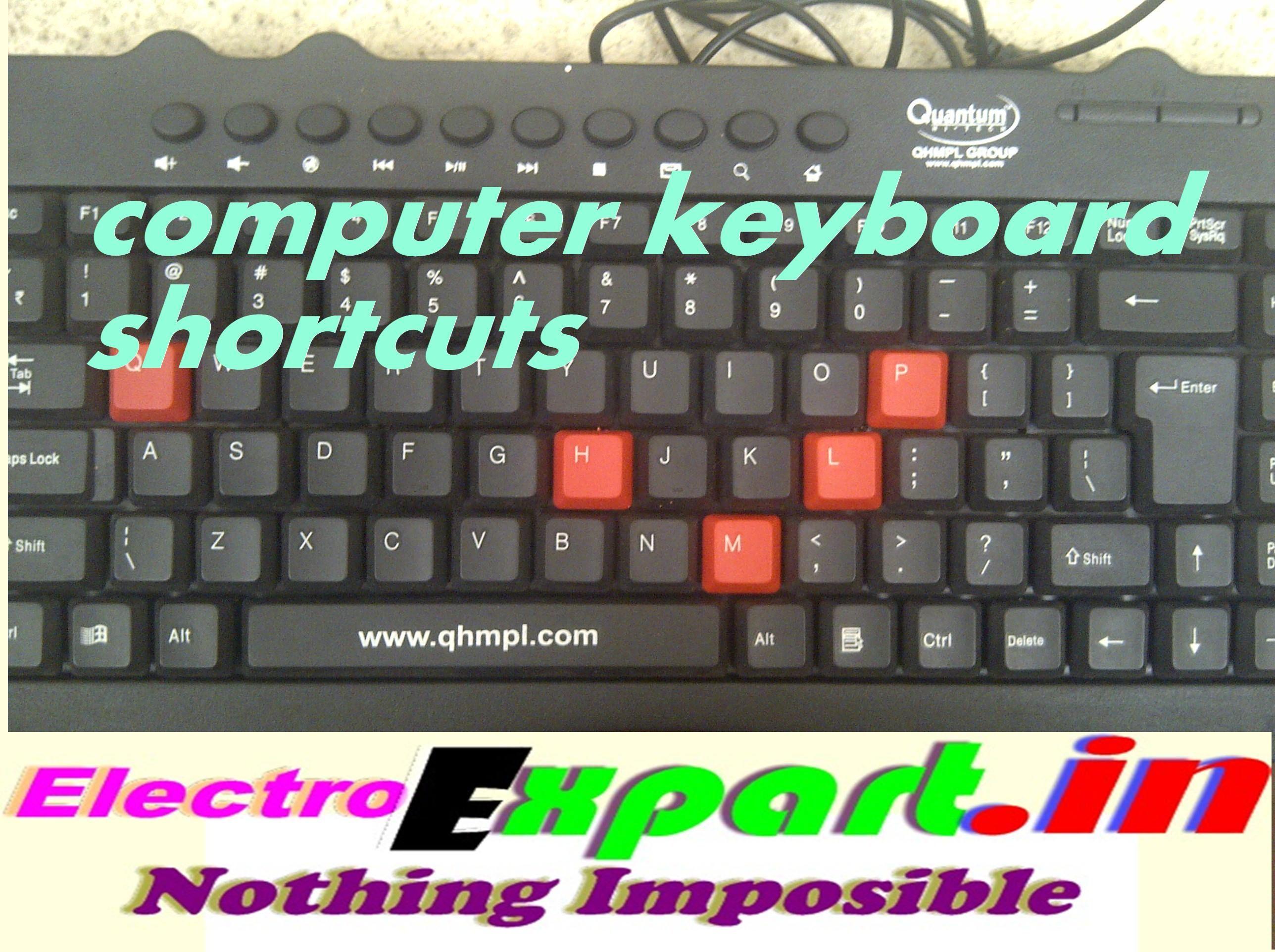 Computer Laptop keyboard shortcuts in hindi Computer
