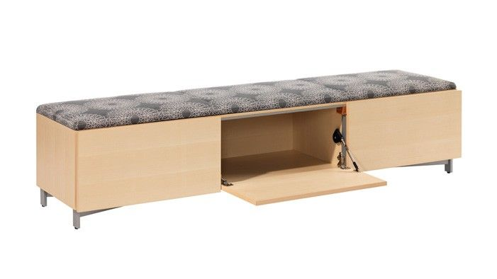 Exponents Open Storage Seating Bench Coalesse Storage Bench Bench Office Furnishing