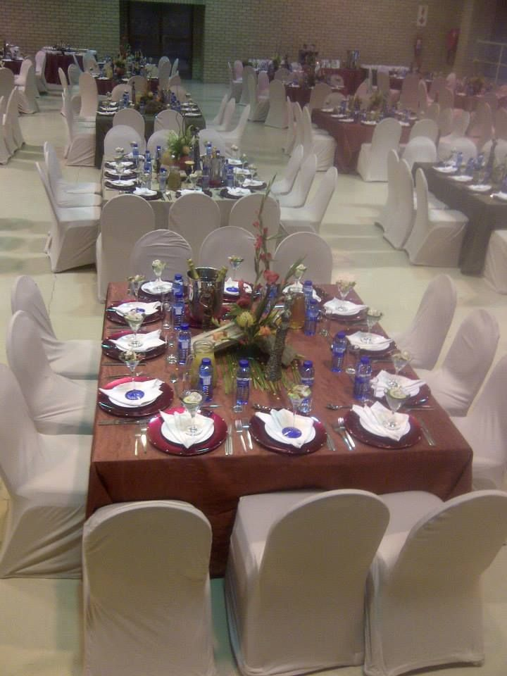 African Chic tablescape