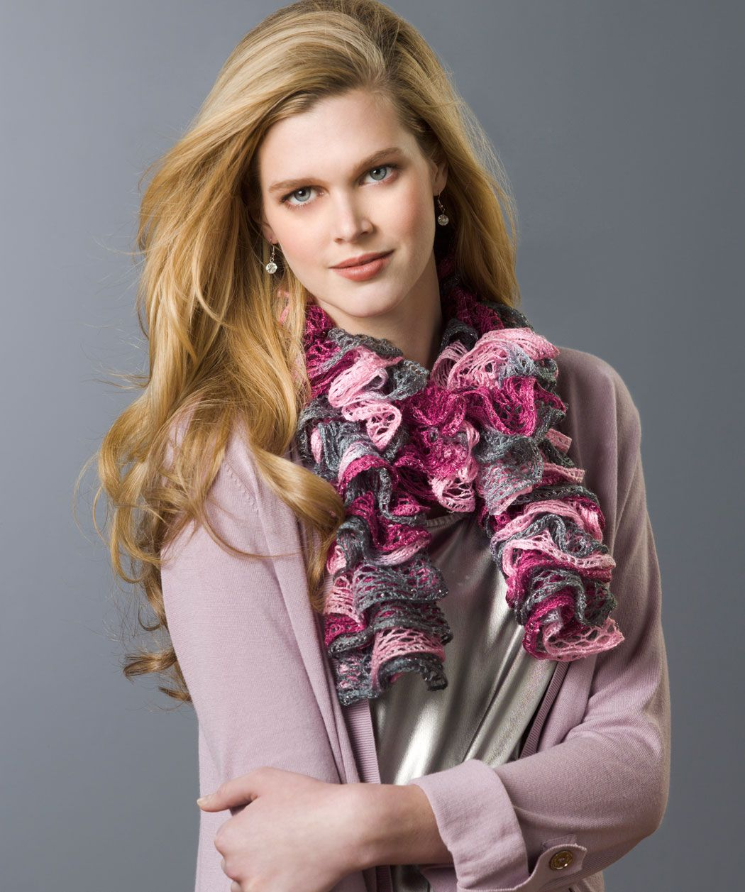 """Frilly Knit Scarf - Red Heart® Boutique™ """"Sashay™"""": 1 ball 1946 ..."""