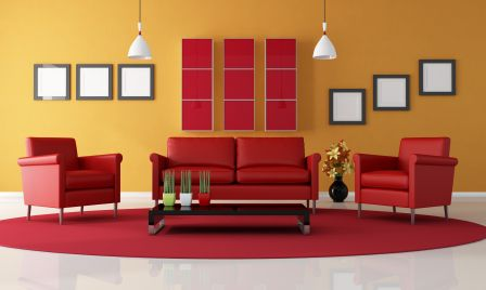 Red yellow orange themes red animal prints rocks - Red and yellow living room decorating ideas ...
