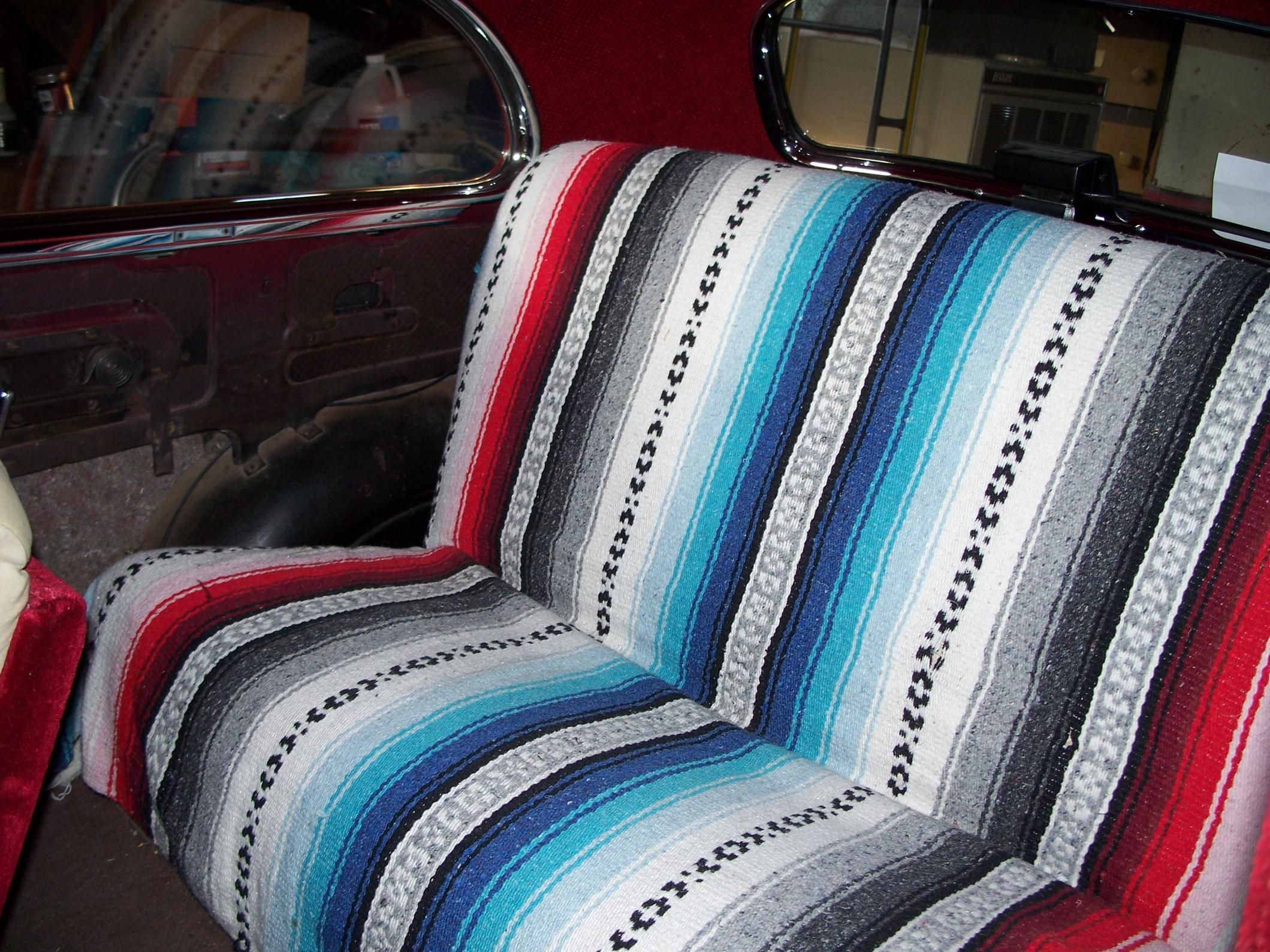 Mexican Blanket Seat Covers Mexican Blanket Seat Cover Bench