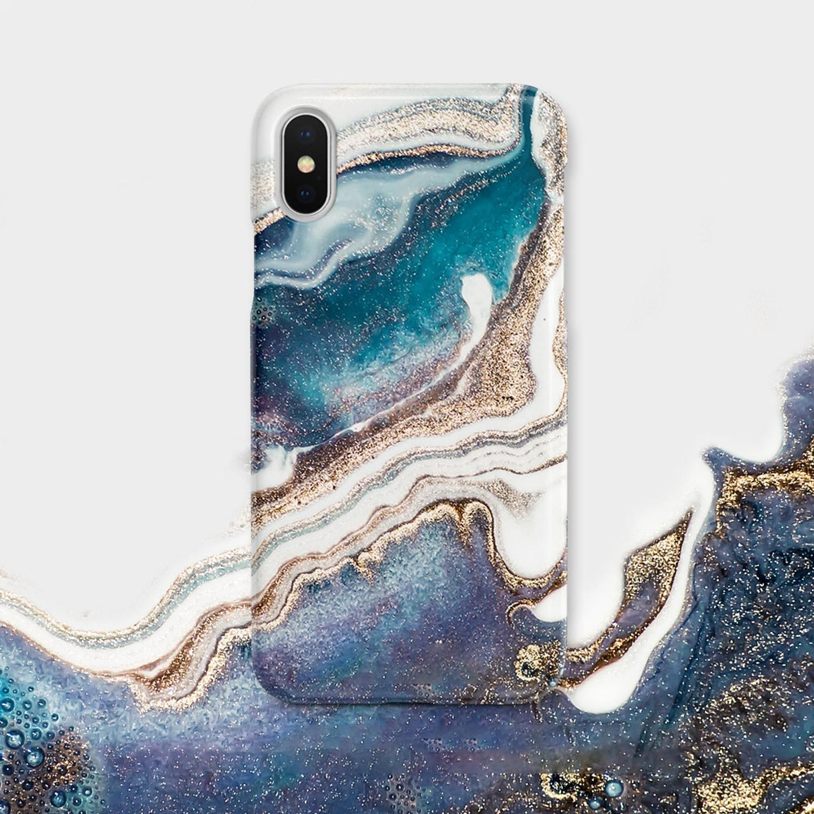 Marble Galaxy iPhone case Flowers Marble Cute iPhone Xs
