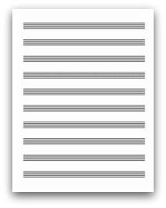 Free Printable Staff Paper For Piano Players  Free Printable