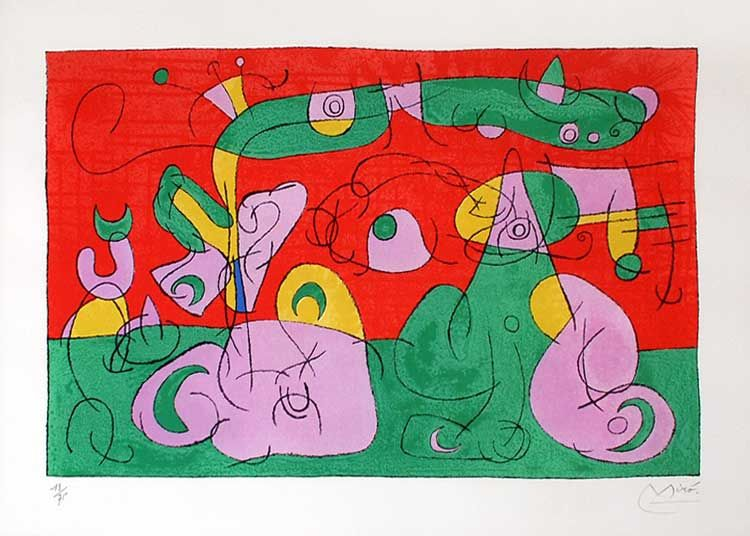 Theaterliebe: SCHREISSE! - König UbuJoan Miro, Lithograph, Ubu Roi (King Ubu) from Suites pour Ubu Roi, 1966