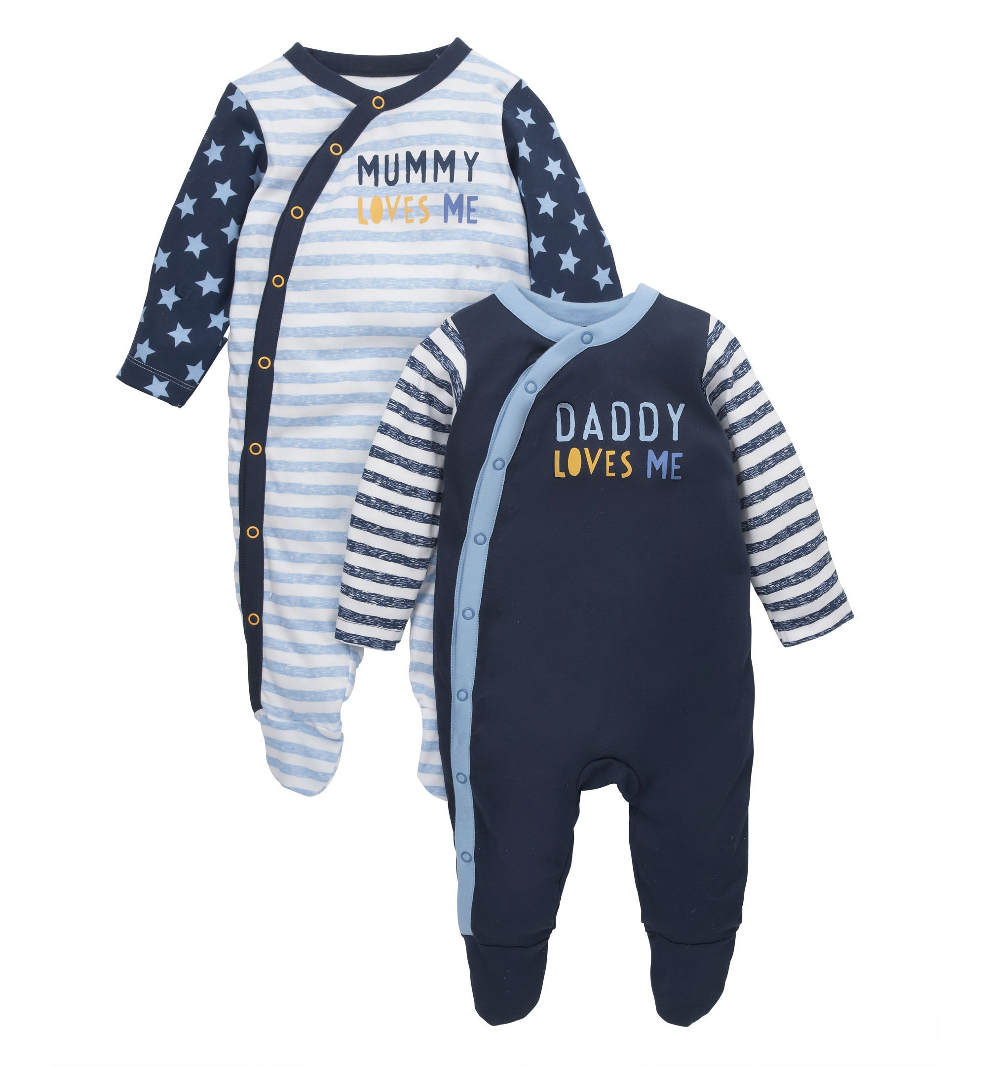 Mothercare Mummy and Daddy Sleepsuits 2 Pack