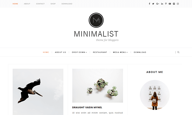 Minimalist Clean Responsive Blogger Template Blog Templates