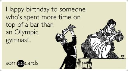 Funny Birthday Ecard Happy birthday to someone whos spent more – Happy Birthday E Cards