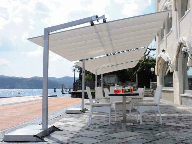 rechteckiger sonnenschirm aus aluminium flexy silver fim. Black Bedroom Furniture Sets. Home Design Ideas