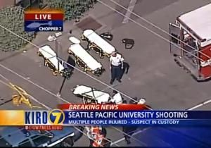 At least four wounded, one suspect captured after shooting at Seattle Pacific University. The shooting broke out around 3:30 p.m. local time Thursday in Otto Miller Hall. Two victims are in critical condition, police said.  #Seattle #SeattlePacific #SPU #University #shooting #Washington