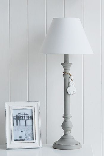 New England Style Lamps Coastal White Table Lamp White Table Lamp Shabby Chic Lamps Table Lamp