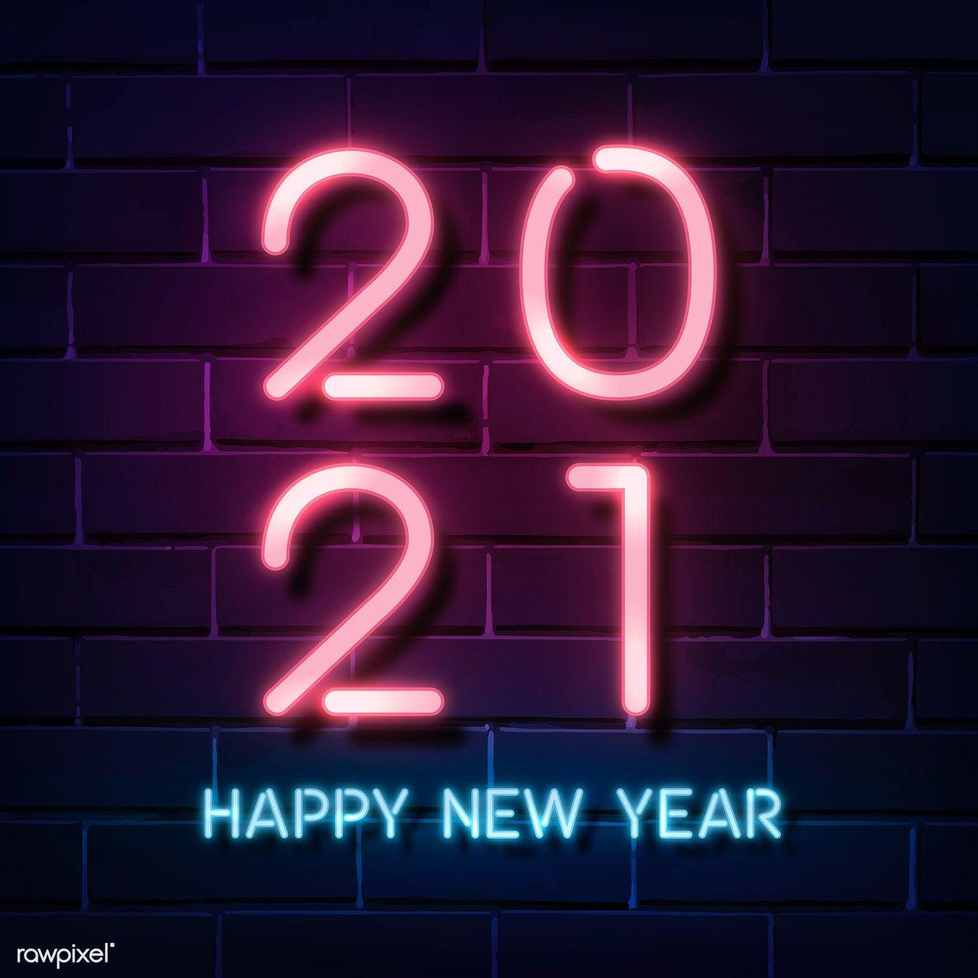 Download Premium Vector Of Pink Neon Happy New Year 2021 Social Ads Happy New Year Status Happy New Year Fireworks Happy New Year Wallpaper Coolest wallpaper images 2021