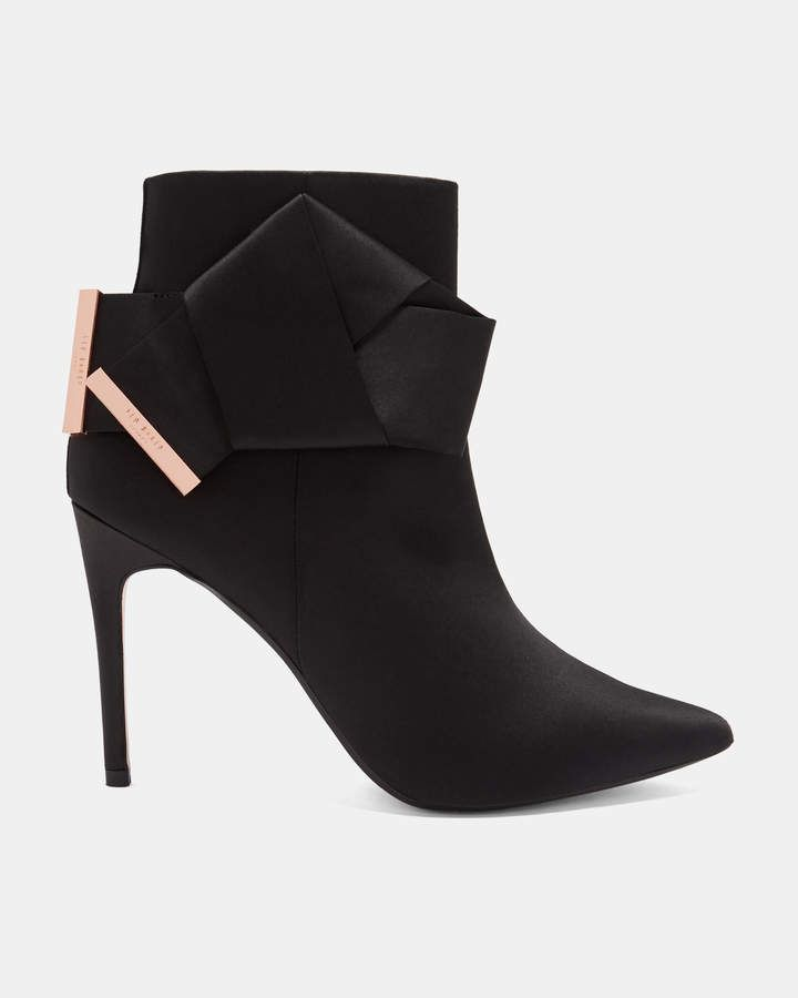 c49563d37a Ted Baker CELIAHH Knotted bow satin ankle boots | Products in 2019 ...