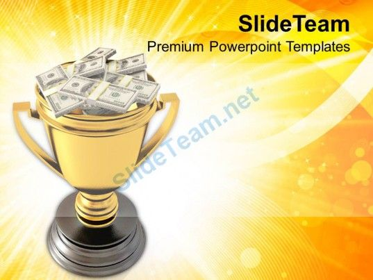 Golden Trophy Cup Full Of Money Powerpoint Templates Ppt Themes And Graphics 0213 PowerPoint