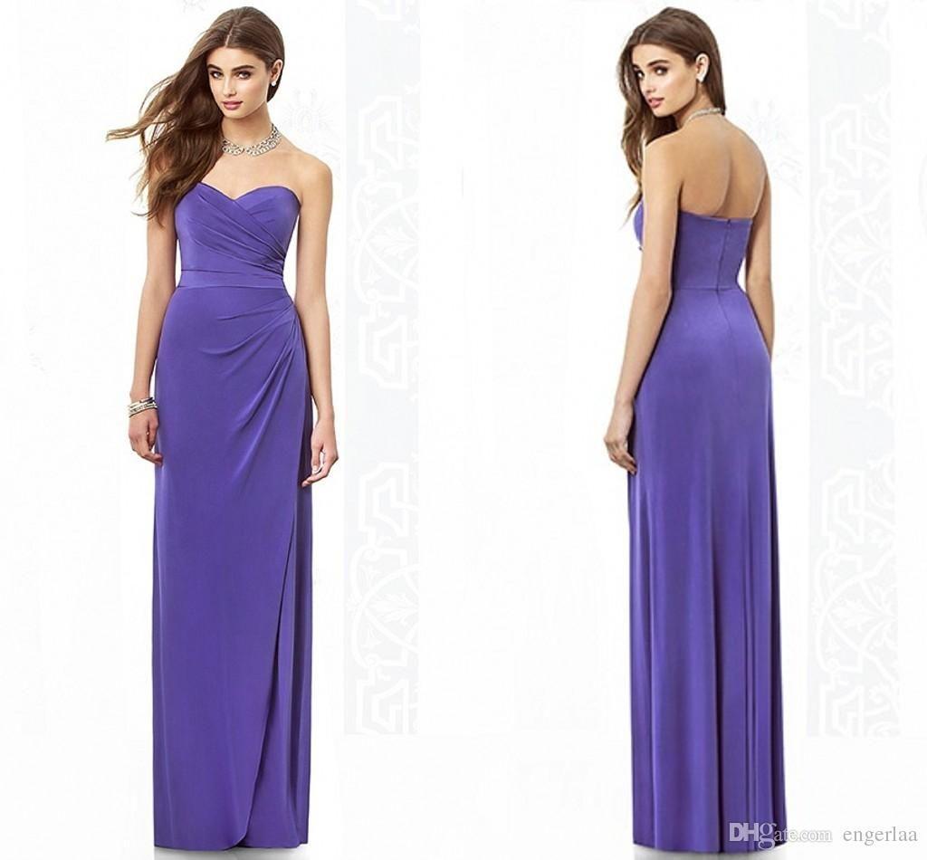 2015 Sweetheart Neckline Bridesmaid Dresses Light Purple Elegant ...