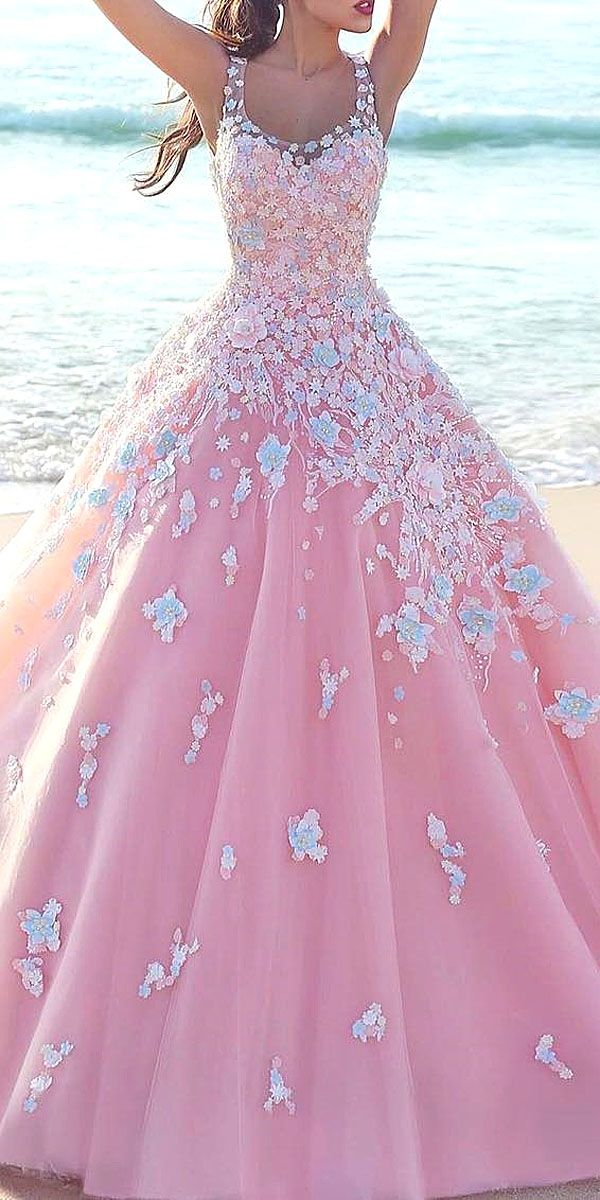 36 Floral Wedding Dresses That Are Incredibly Pretty | vestidos XV ...