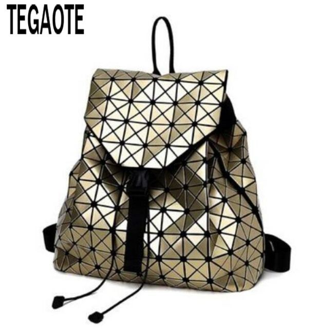 d0855be9fdd4 Promotion price Fashion BAO BAO Women Backpack Diamond Lattice Geometry  Quilted Ladies BaoBao Backpack Sac School Bag For Teenage girl baobao just  only ...